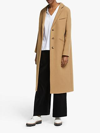 Kin Relaxed Fit Crombie Coat, Natural