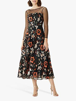 Coast Floressa Mesh Floral Dress, Multi