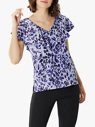 Coast Beau Animal Print Top, Multi