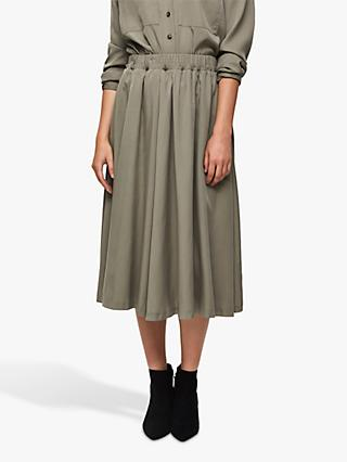 Selected Femme Adda Midi Skirt, Vetiver