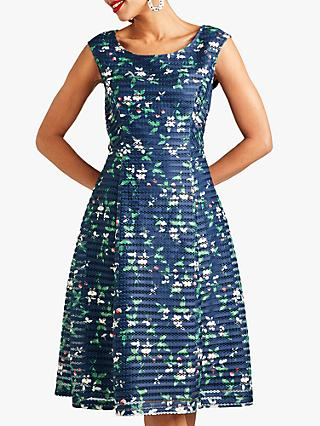 Yumi Cherry Prom Dress, Navy/Multi