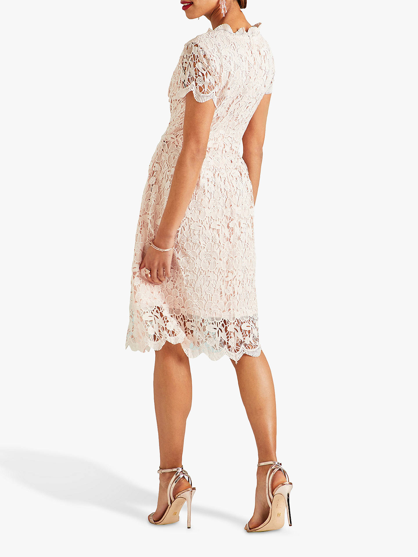 Buy Yumi Lace Midi Prom Dress, Light Pink, 8 Online at johnlewis.com