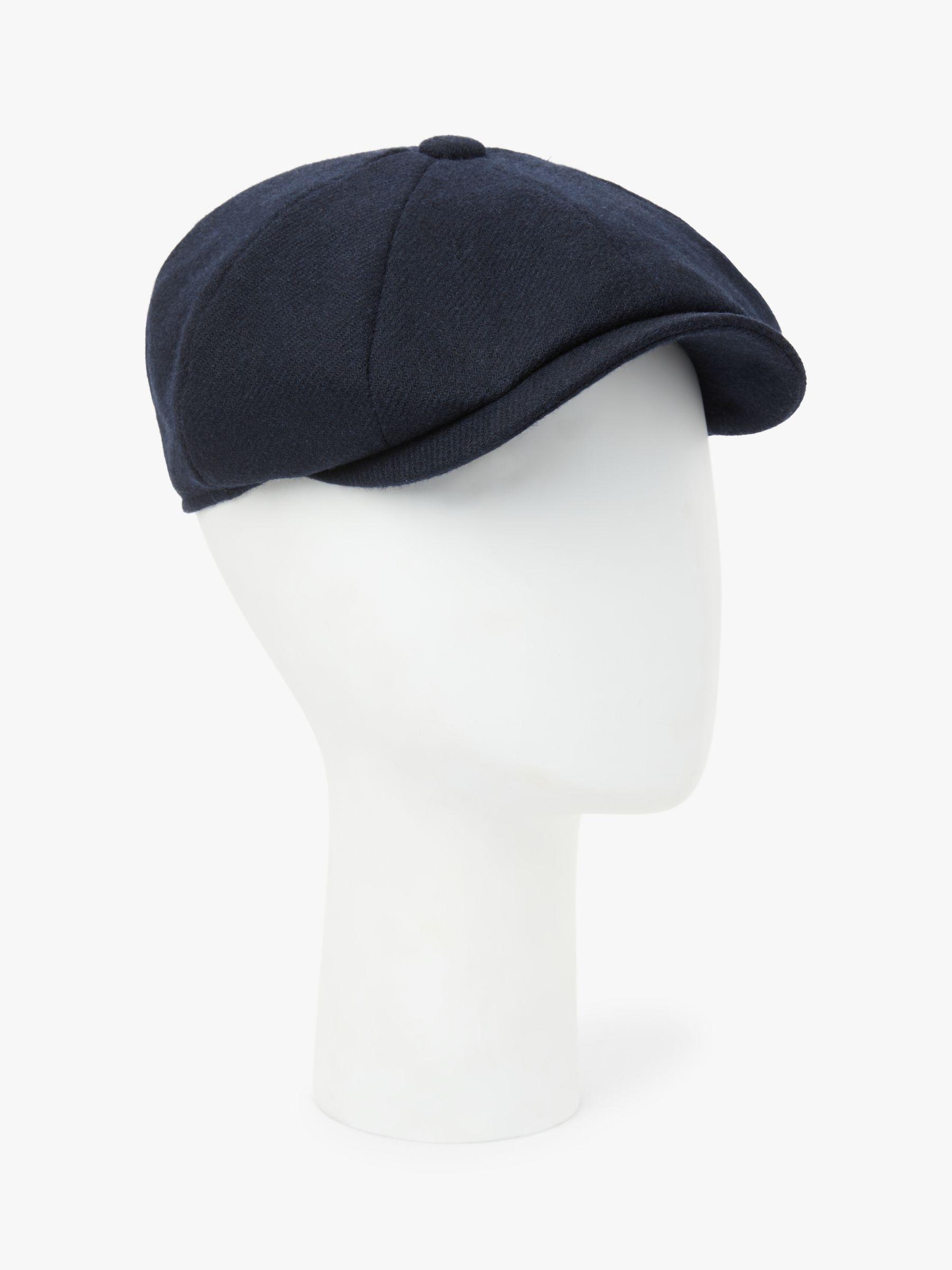 John Lewis & Partners British Merino Wool Baker Boy Cap, Navy