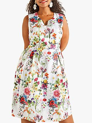 Yumi Curves Botanical Prom Dress, Multi