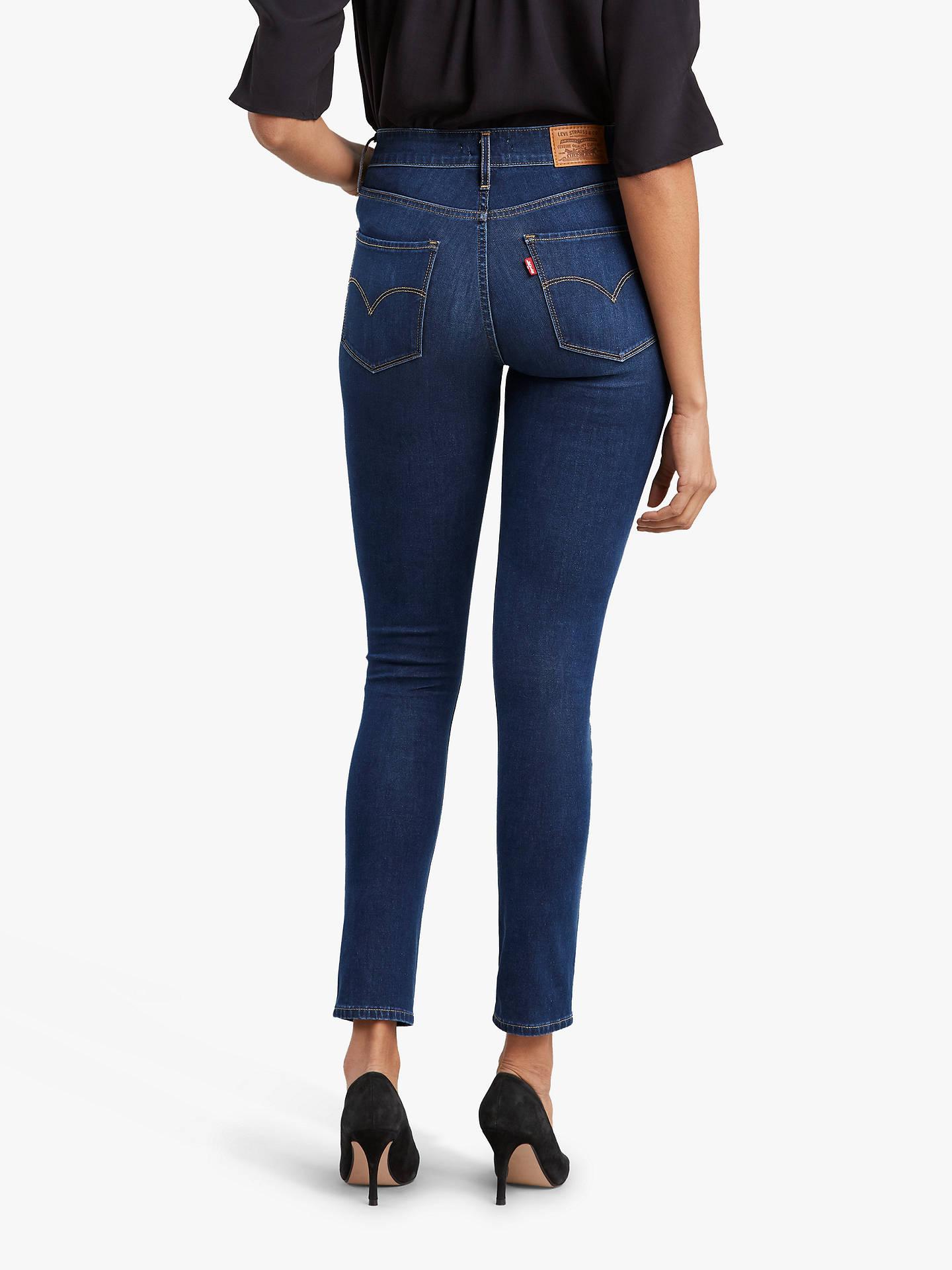 Levi's Ladies 721 High Rise Skinny Dark Blue Jeans W27 L28