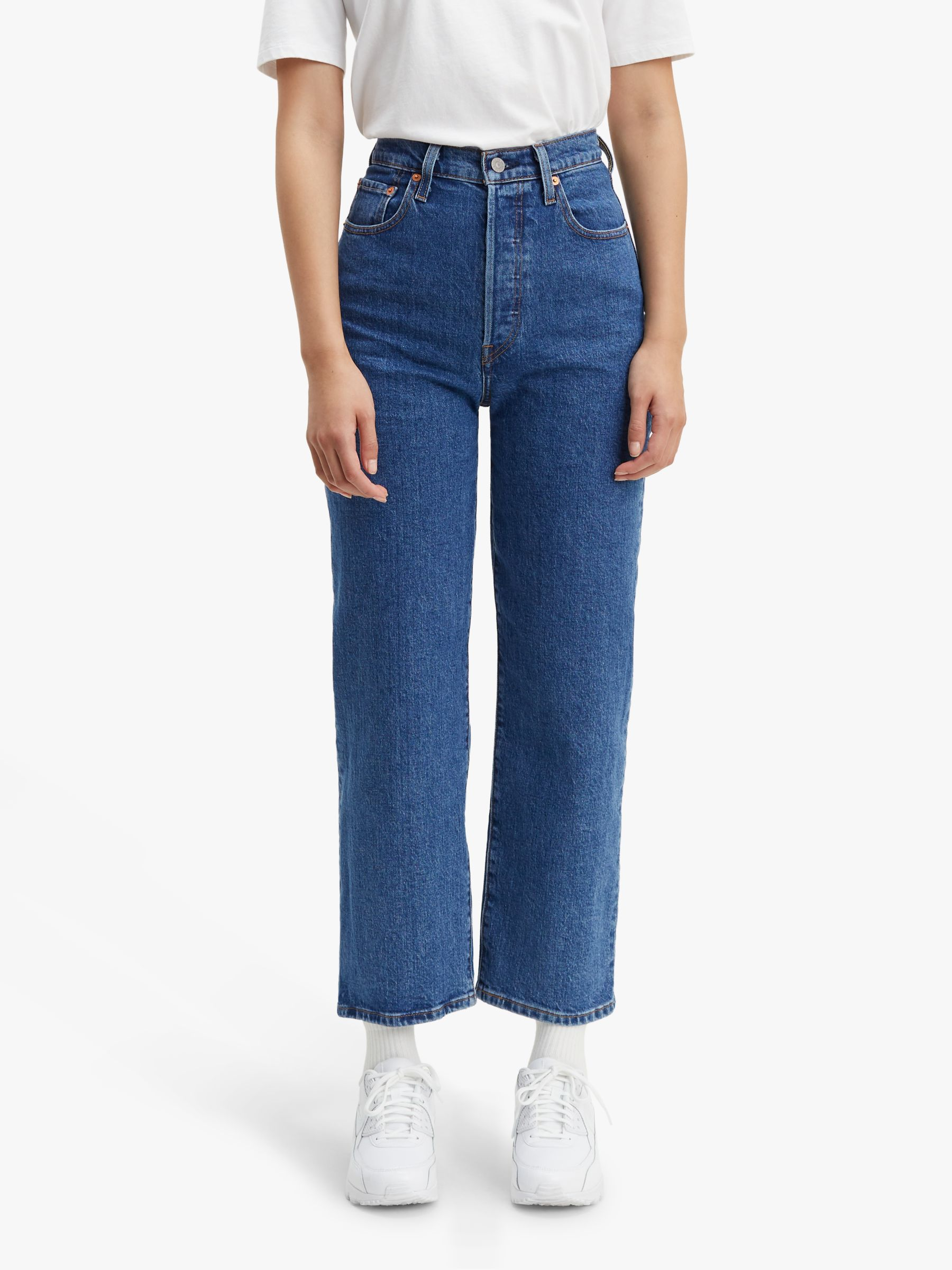 Buy Levi's Ribcage Straight Ankle Jeans, Georgie, W27/L27 Online at johnlewis.com