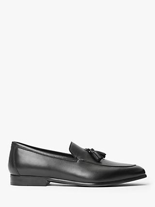 John Lewis & Partners Geneva Leather Tassel Loafers