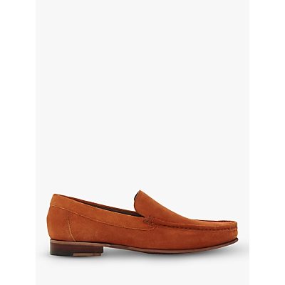Dune Sloane Square Suede Loafers, Burnt Orange
