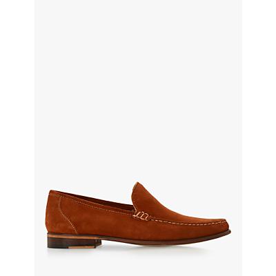 Bertie Shackle Suede Loafers, Orange