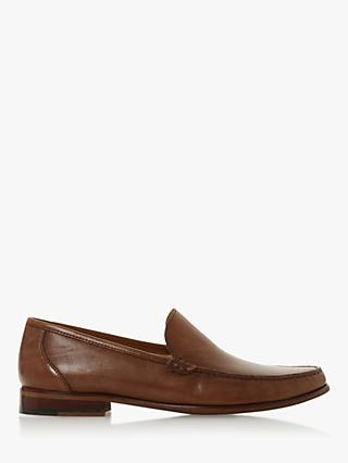 Bertie Shackle Leather Loafers, Tan
