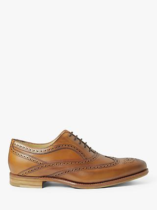 Barker Tech Turing Leather Brogues, Antique Rosewood