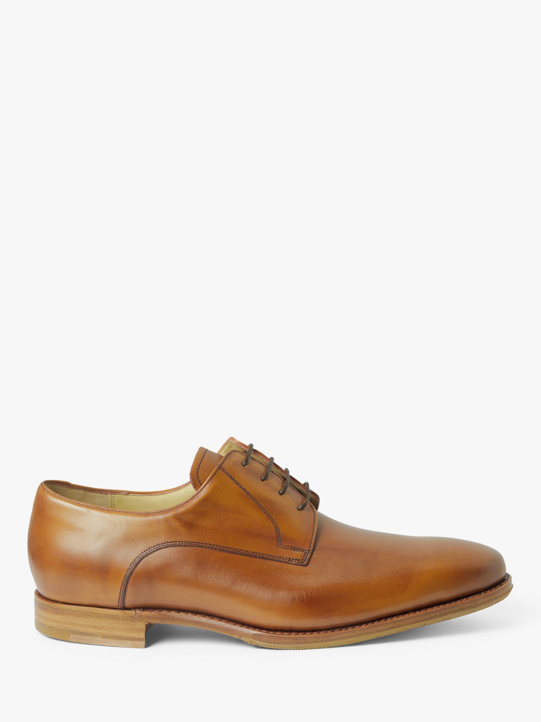 Barker Barker Tech Elon Leather Derby Shoes, Antique Rosewood