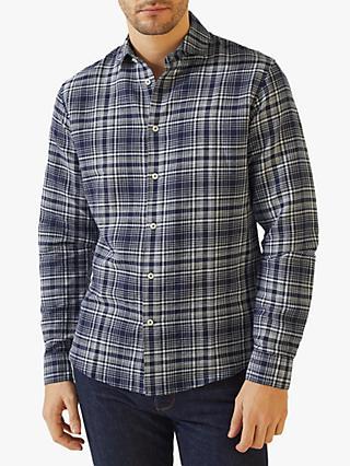 b36bc3d1134 Jigsaw Slim Fit Spread Collar Check Shirt