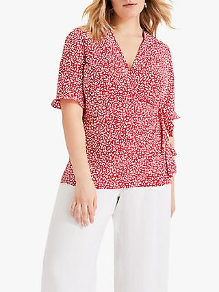 Studio 8 Logan Wrap Top, Red