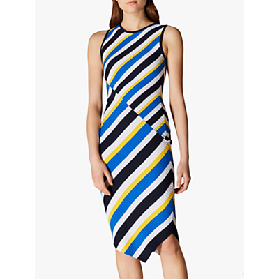 Karen Millen Striped Bodycon Dress, Multi