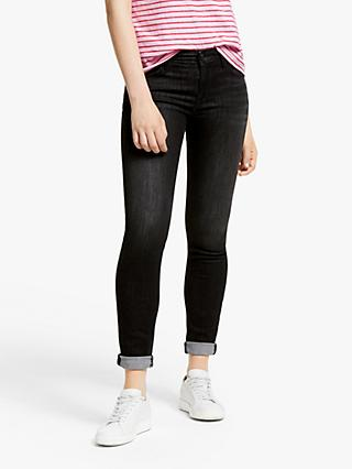 Lee Scarlett Regular Waist Skinny Jeans, Black Orrick