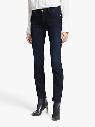Lee Marion Regular Straight Leg Jeans, Dark Mulberry
