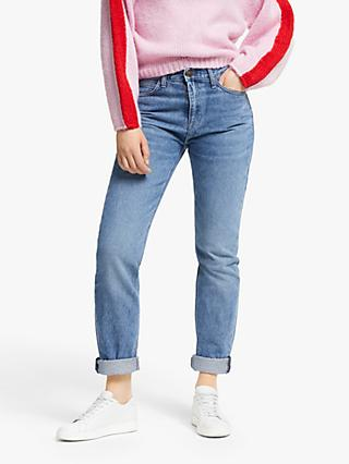 Lee Carol High Waist Straight Leg Cropped Jeans, Light Blue