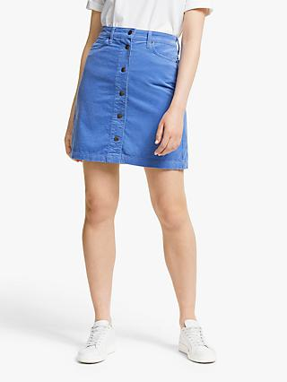 Lee A-Line Cord Skirt, Frost Blue