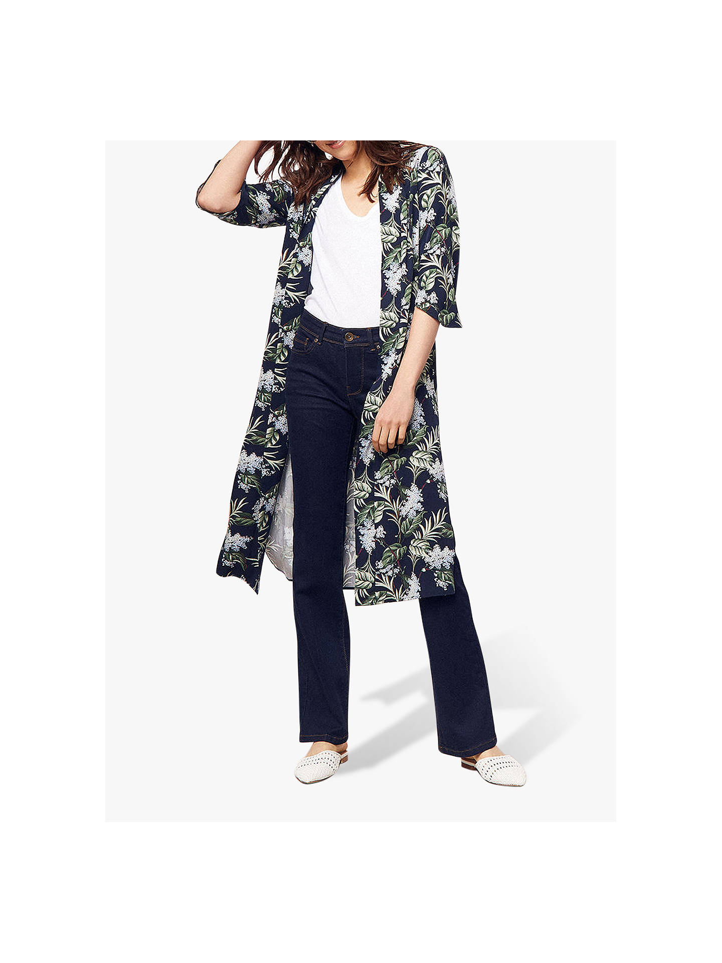 db098cc2f603 Buy Oasis Delray Kimono, Multi/Blue, 14 Online at johnlewis.com ...