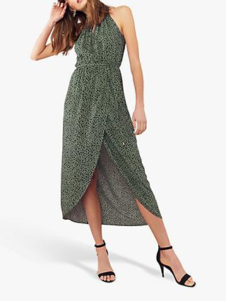 560abb92e3d6 Oasis Animal Textured Wrap Midi Dress