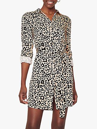 3b9c73cfcf49 Oasis Petunia Animal Print Shirt Dress, Brown