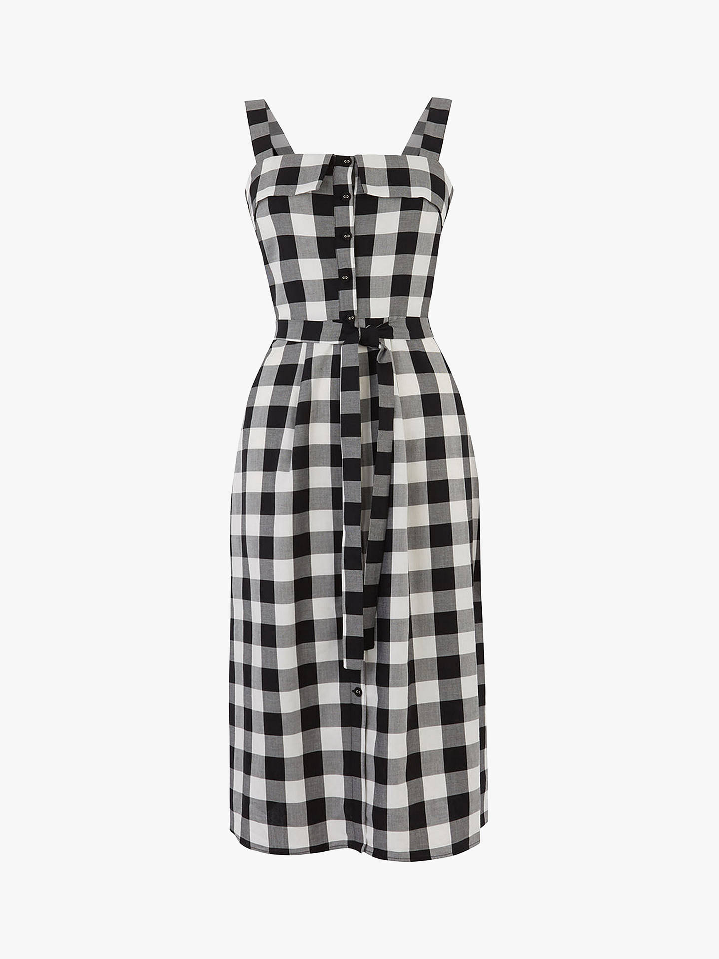 30e564a7cdc9 ... Buy Oasis Gingham Midi Dress, Black/White, 10R Online at johnlewis.com  ...