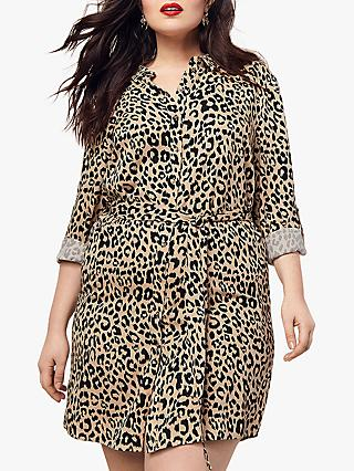 Oasis Curve Shirt Dress, Animal