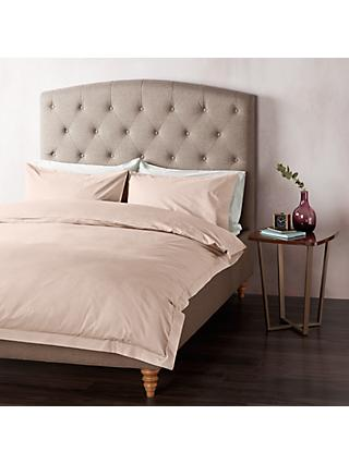John Lewis & Partners 400 Thread Count Crisp & Fresh Egyptian Cotton Bedding, Blush Pink