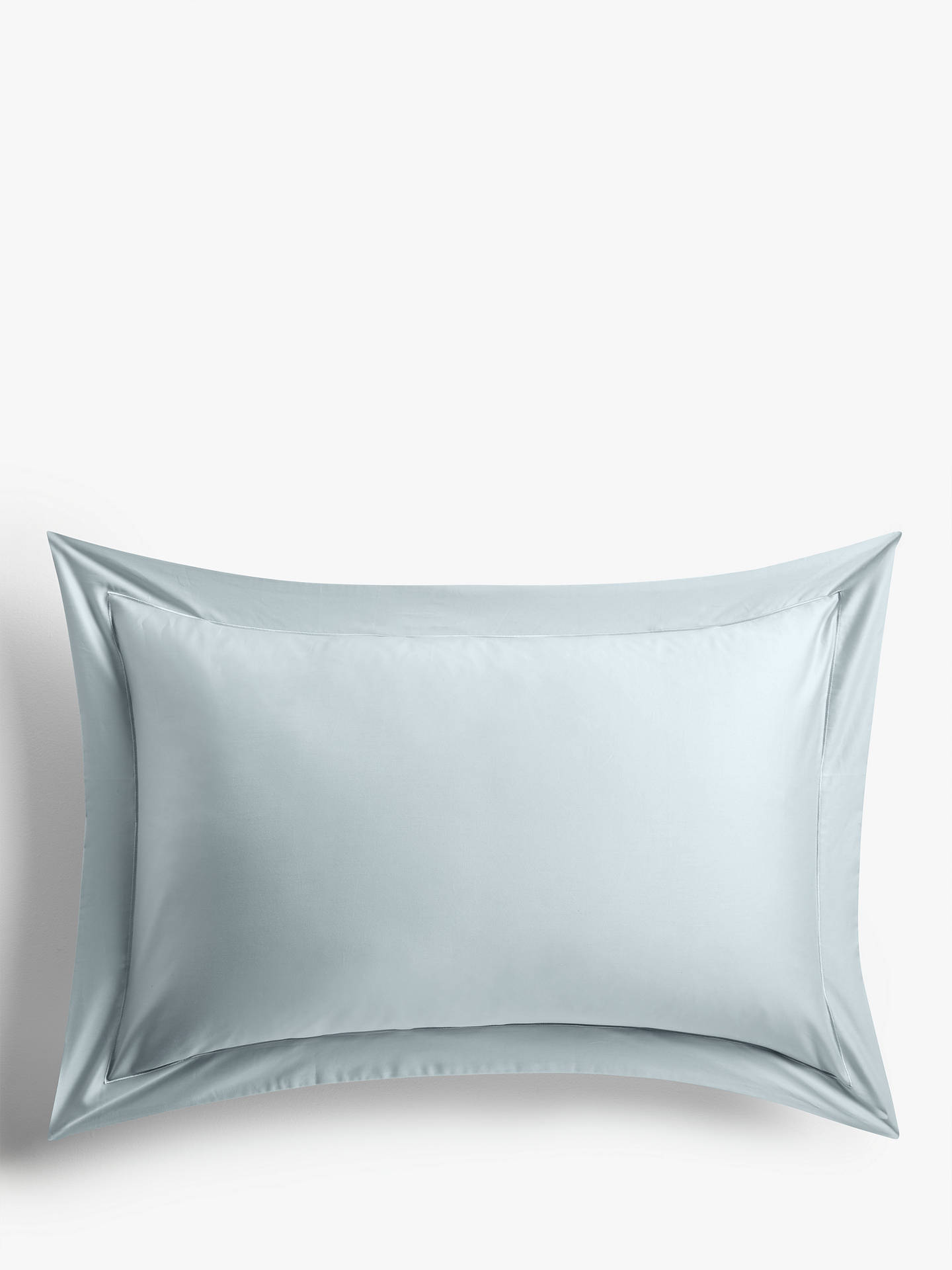 Buy John Lewis & Partners 400 Thread Count Soft & Silky Egyptian Cotton Standard Pillowcase, Ice Blue Online at johnlewis.com