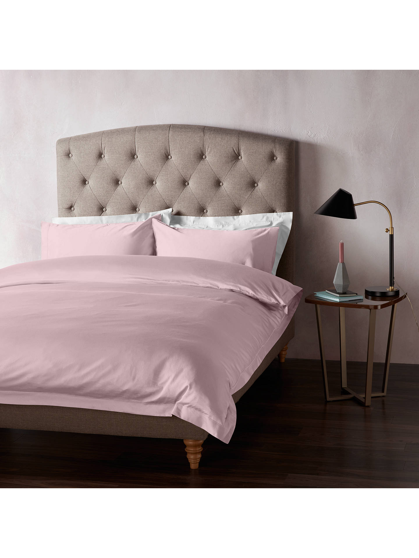 Buy John Lewis & Partners 400 Thread Count Soft & Silky Egyptian Cotton Super King Duvet Cover, Mauve Online at johnlewis.com