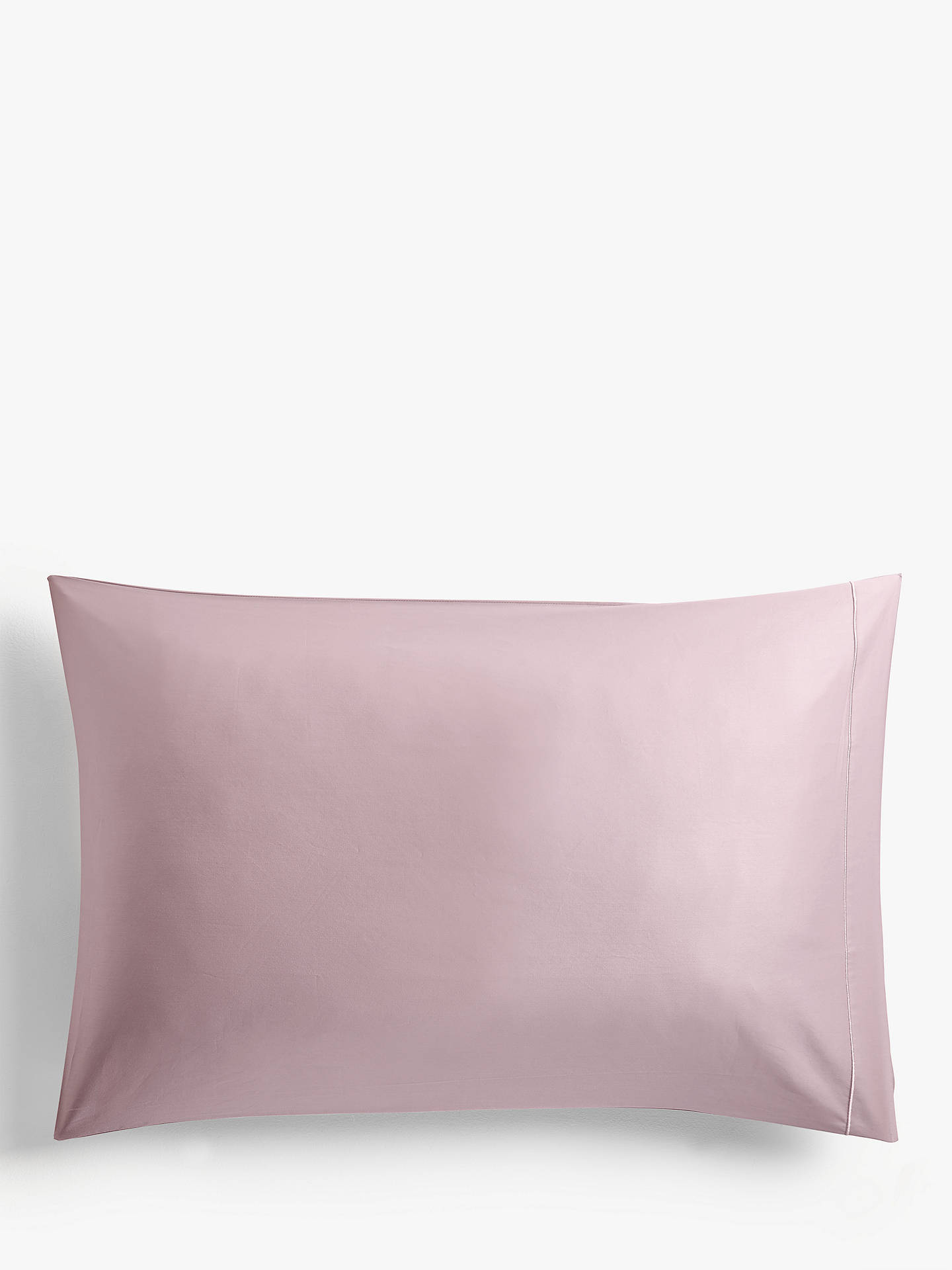 Buy John Lewis & Partners 400 Thread Count Soft & Silky Egyptian Cotton Oxford Pillowcase, Mauve Online at johnlewis.com