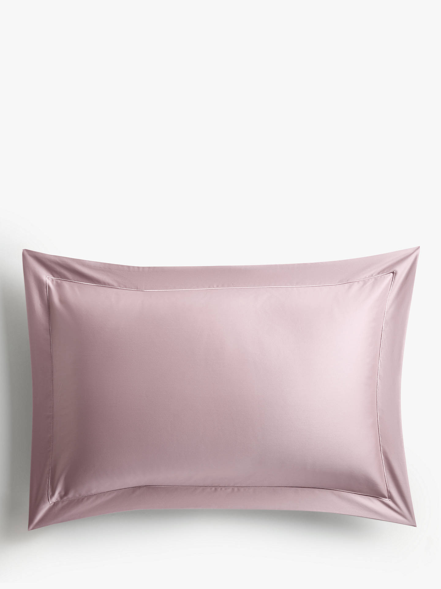 Buy John Lewis & Partners 400 Thread Count Soft & Silky Egyptian Cotton Standard Pillowcase, Mauve Online at johnlewis.com