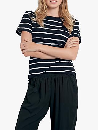 86dc66e752175 hush Stripe Short Sleeve Cotton T-Shirt