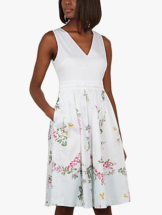 Ted Baker Reyyne Floral Skirted Dress, White