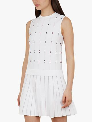 Ted Baker Lornia Stitch Detail Dress, Ivory