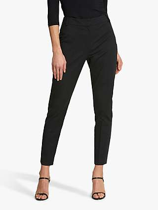 Helen McAlinden Audrey Wool Cigarette Trousers, Black