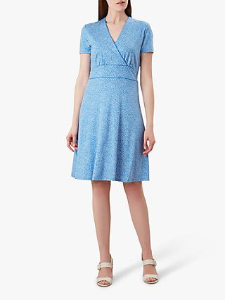 Hobbs Darcie Dress, Blue/White