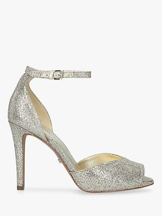 MICHAEL Michael Kors Cambria Stiletto Heel Sandals, Silver