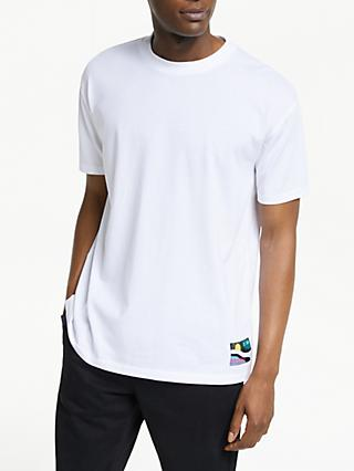 Scotch & Soda Dropped Shoulder Logo Patch Crew T-Shirt, White