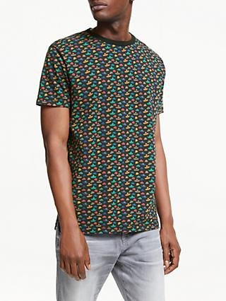 Scotch & Soda Hat Print T-Shirt, Black