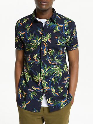 Scotch & Soda Tropical Print Shirt, Navy