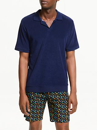 Scotch & Soda Chic Terry Beach Polo Shirt, Navy