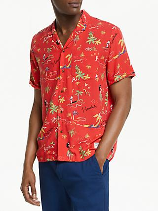 Scotch & Soda Hawaiian Print Shirt, Orange