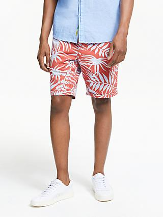 Scotch & Soda Allover Printed Chino Shorts, Red