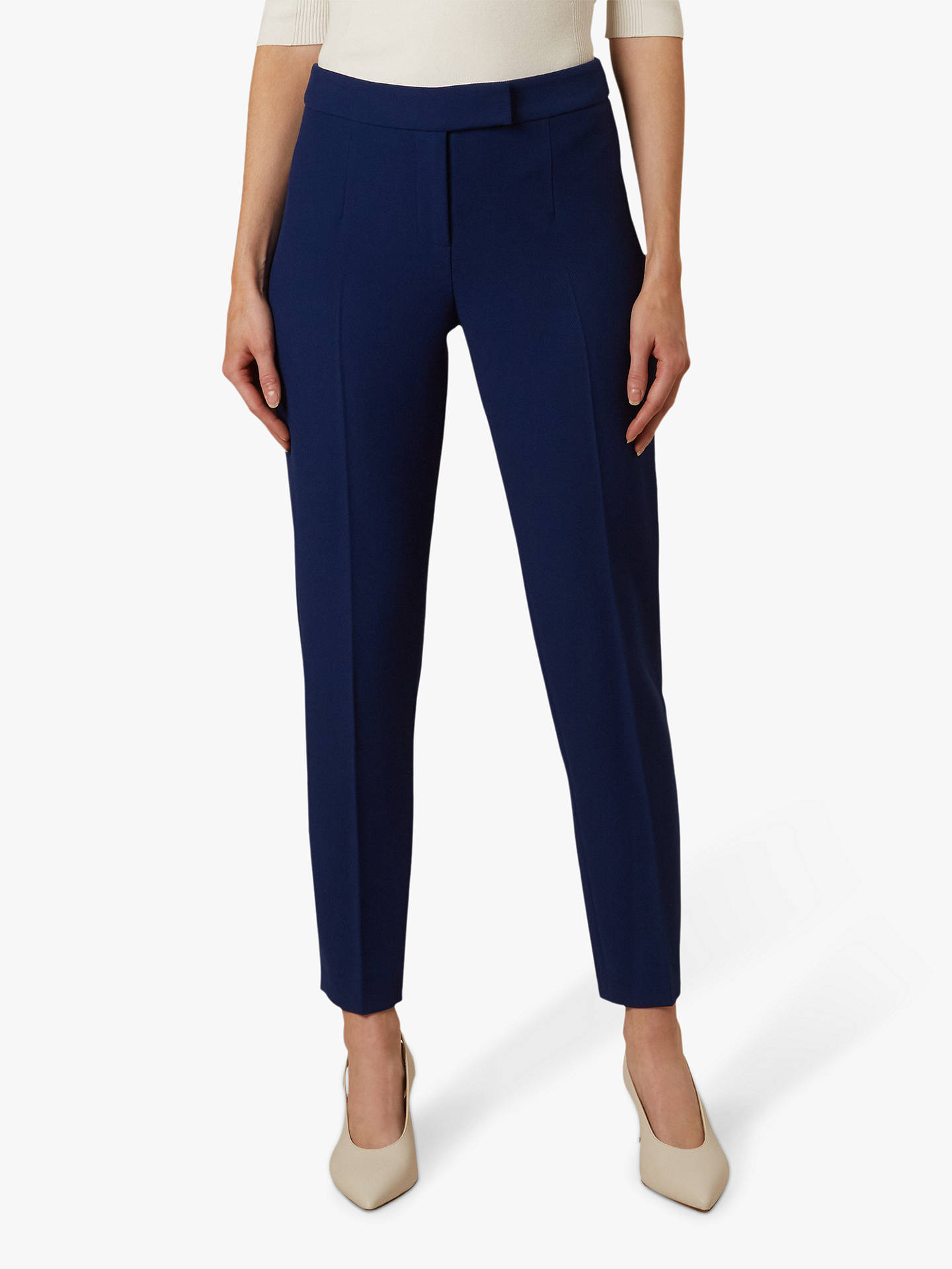 Buy Hobbs Viviene Tailored Trousers, Royal Blue, 8 Online at johnlewis.com