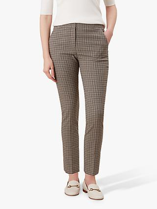 Hobbs Annie Check Trousers, Multi