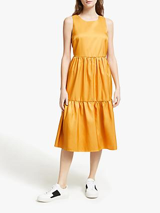 Y.A.S Estelle Tiered Dress, Yolk Yellow