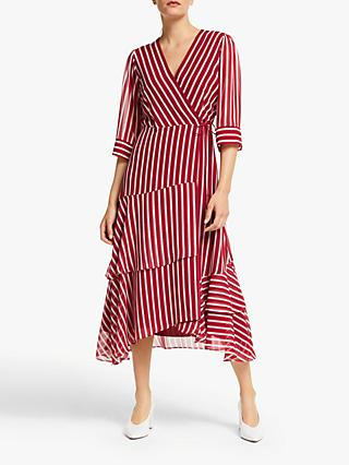 Marella Fortuna Stripe Dress, Red