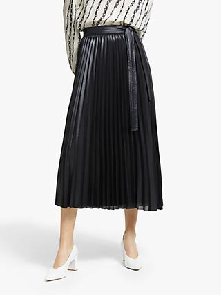 Marella Brioso Pleated Skirt, Black